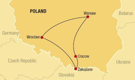 Southern Poland Map.Southern Poland